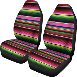 Serape Rainbow Colors Pink, Green, Car Seat Covers