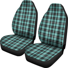 Load image into Gallery viewer, Turquoise Plaid Car Seat Covers