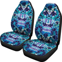 Load image into Gallery viewer, Teal, Purple and Blue Tie Dye Car Seat Covers