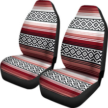 Load image into Gallery viewer, Dusty Rose, White and Black Serape Inspired Car Seat Covers Seat Protectors