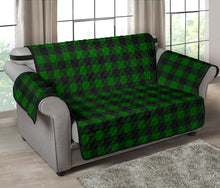 "Load image into Gallery viewer, Green Buffalo Plaid 54"" Loveseat Couch Cover Sofa Protector Farmhouse Decor"