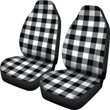 Load image into Gallery viewer, Large Buffalo Check Marled Pattern Car Seat Covers Set