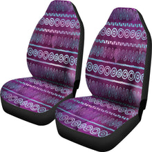 Load image into Gallery viewer, Purple Iridescent Boho Watercolor Pattern Car Seat Covers