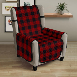 "Red and Black 23"" Sofa Chair Cover Protecter Farmhouse Country Home Decor"