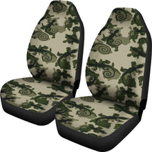Load image into Gallery viewer, Gecko Camouflage Car Seat Covers Green and Black Camo