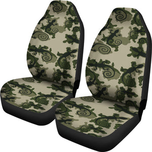 Gecko Camouflage Car Seat Covers Green and Black Camo