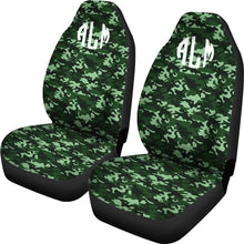 Load image into Gallery viewer, Green Camo Custom Seat Covers