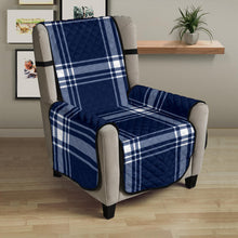 "Load image into Gallery viewer, Plaid Armchair Slipcover Protector Cover For Up To 23"" Seat Width Chairs"