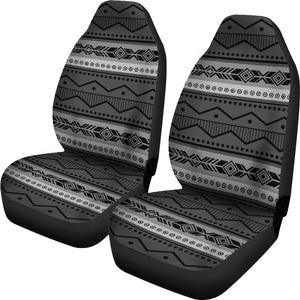 Gray and Black Ethnic Pattern Car Seat Covers Seat Protectors Tribal Boho Aztec