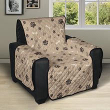 Load image into Gallery viewer, Light Brown Beige With Paw Print Pattern Furniture Slipcovers