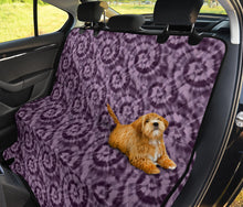 Load image into Gallery viewer, Purple Tie Dye Back Seat Cover Seat Protector For Pets