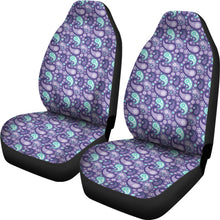 Load image into Gallery viewer, Purple and Teal Paisley Pattern Car Seat Covers