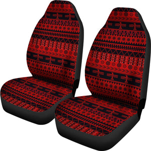 Red and Black Thunderbird Pattern Car Seat Covers Native American Ethnic Mexican Inspired