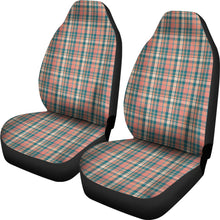 Load image into Gallery viewer, Peach Plaid Car Seat Covers