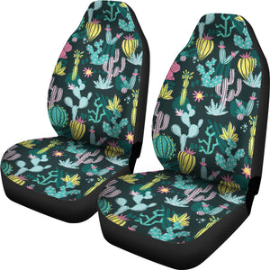 Colorful and Bright Cactus Pattern Car Seat Covers Set