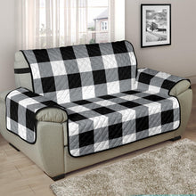 Load image into Gallery viewer, Buffalo Check Chair and a Half Armchair Slipcover Protectors In Black, White and Gray 48