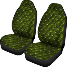 Load image into Gallery viewer, Dragon Scales Car Seat Covers Green Fantasy Mythology