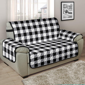 Buffalo Check Chair and a Half Armchair Slipcover Protectors In Black, White and Gray 48