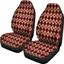 Load image into Gallery viewer, Old Playing Card Suits Pattern Car Seat Covers Red and Black