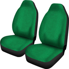 Load image into Gallery viewer, Bright Green Reptile Snake Skin Scales Car Seat Covers