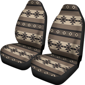 Neutral Colored Tribal Boho Pattern Car Seat Covers Aztec Ethnic