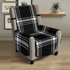 "Plaid Armchair Slipcover Protector Cover For Up To 23"" Seat Width Chairs"