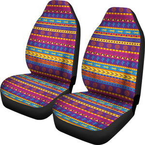 Colorful Mexican Southwestern Style Pattern Car Seat Covers Boho Ethnic Aztec