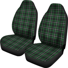 Load image into Gallery viewer, Dark Green and White  Plaid Tartan Scottish Car Seat Covers