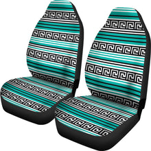 Load image into Gallery viewer, Turquoise Tribal Pattern Car Seat Covers Ethnic Boho