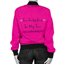 Lady Boss Bling Pink Bomber