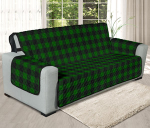 "Green Buffalo Plaid 78"" Oversized Sofa Cover Couch Protector Farmhouse Decor"
