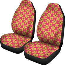 Load image into Gallery viewer, Pink Magenta With Retro Hippie Flower Pattern Car Seat Covers