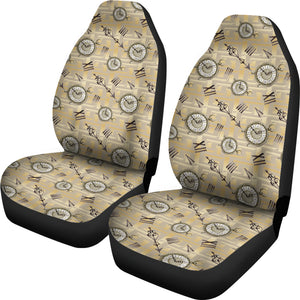 Vintage Antique Clock Pocket Watch Car Seat Covers