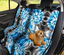 Load image into Gallery viewer, Blue Tie Dye Pet Car Back Seat Cover