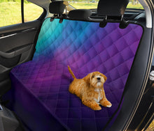 Load image into Gallery viewer, Purple, Teal and Blue Ombre Watercolor Back Seat Protector Cover For Pets