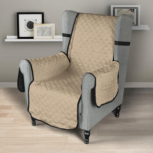 Cool Tan Armchair Solid Color Slipcover 23""