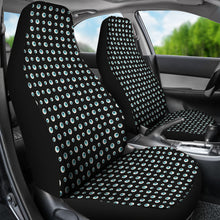 Load image into Gallery viewer, Black With Blue Eyeballs Pattern Car Seat Covers