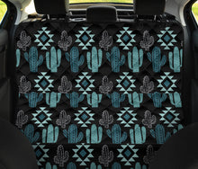 Load image into Gallery viewer, Teal Boho Cactus Pattern Back Bench Seat Cover For Pets