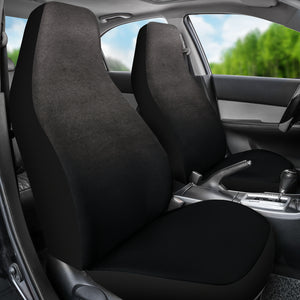 Charcoal Gray Ombre Watercolor Car Seat Covers