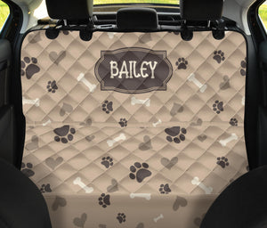 Custom Dog Love Name Back Seat Cover For Pets