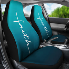 Load image into Gallery viewer, Faith Teal Ombre Car Seat Covers Religious Christian Themed
