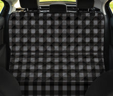 Load image into Gallery viewer, Gray and Black Buffalo Plaid Back Bench Seat Cover For Pets