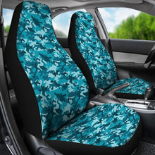 Load image into Gallery viewer, Teal Camo Universal Fit Car Seat Covers