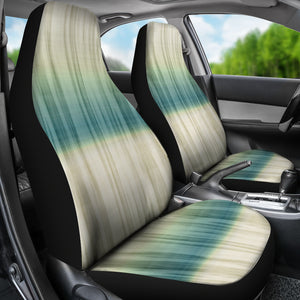 Green, Blue and Cream Tie Dye Car Seat Covers Seat Protectors