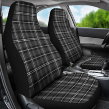 Load image into Gallery viewer, Dark Gray and White Plaid Car Seat Covers Seat Protectors Set