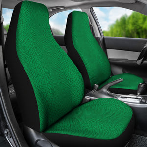 Bright Green Reptile Snake Skin Scales Car Seat Covers