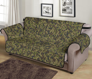 "Camo Couch Protector green, Brown and Gray Camouflage Slip Cover 70"" Seat Width"