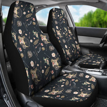 Load image into Gallery viewer, Black With Boho Pattern Car Seat Covers