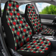 Load image into Gallery viewer, Gambling Casino Pattern Car Seat Covers Gray Red and Black