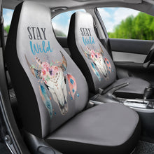 Load image into Gallery viewer, Smoke Ombre Boho Skull Stay Wild Seat Covers